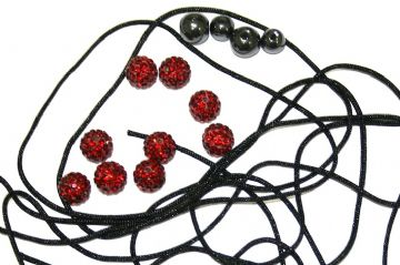 DIY Pave Crystal Bracelet Kit - Ruby Red - SC